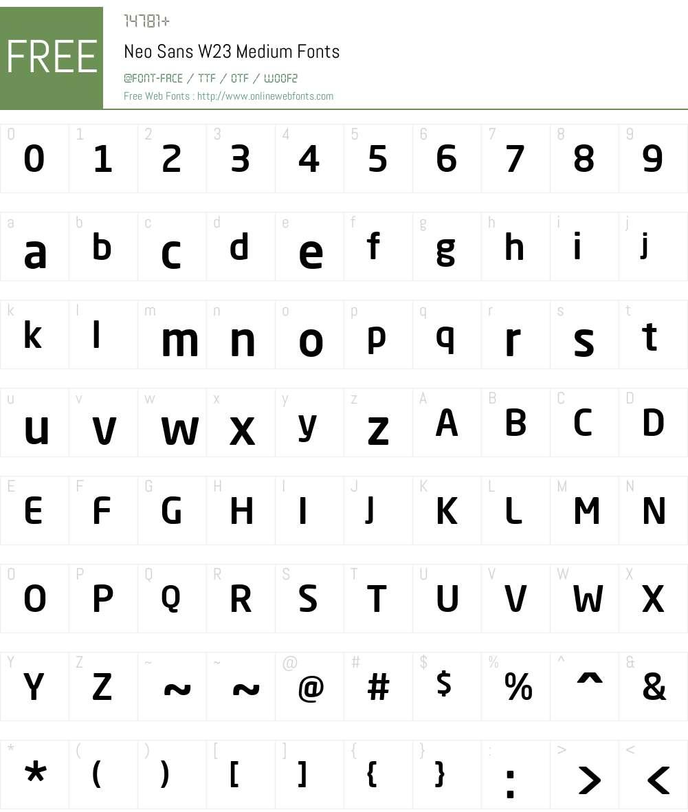 Neo Sans W23 Med Font Screenshots