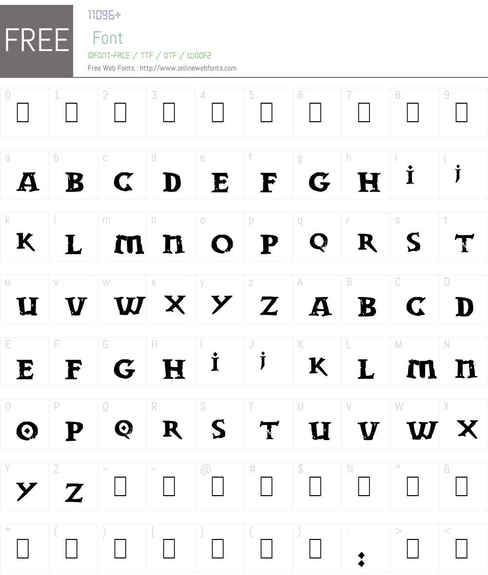 Dwarven Stonecraft Font Screenshots