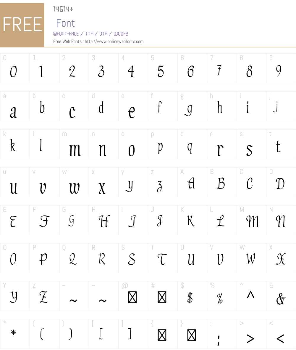 Hadfield Std Font Screenshots