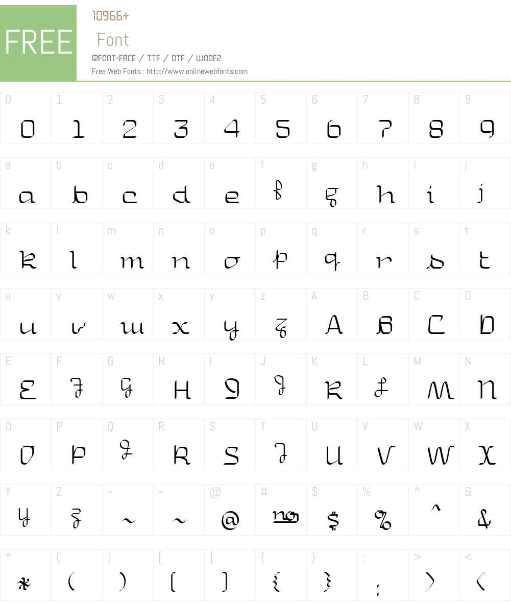 Uniglow Font Screenshots