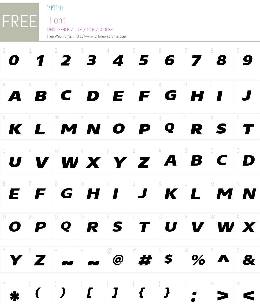 CoreSansNSCW01-83XHvIt Font Screenshots