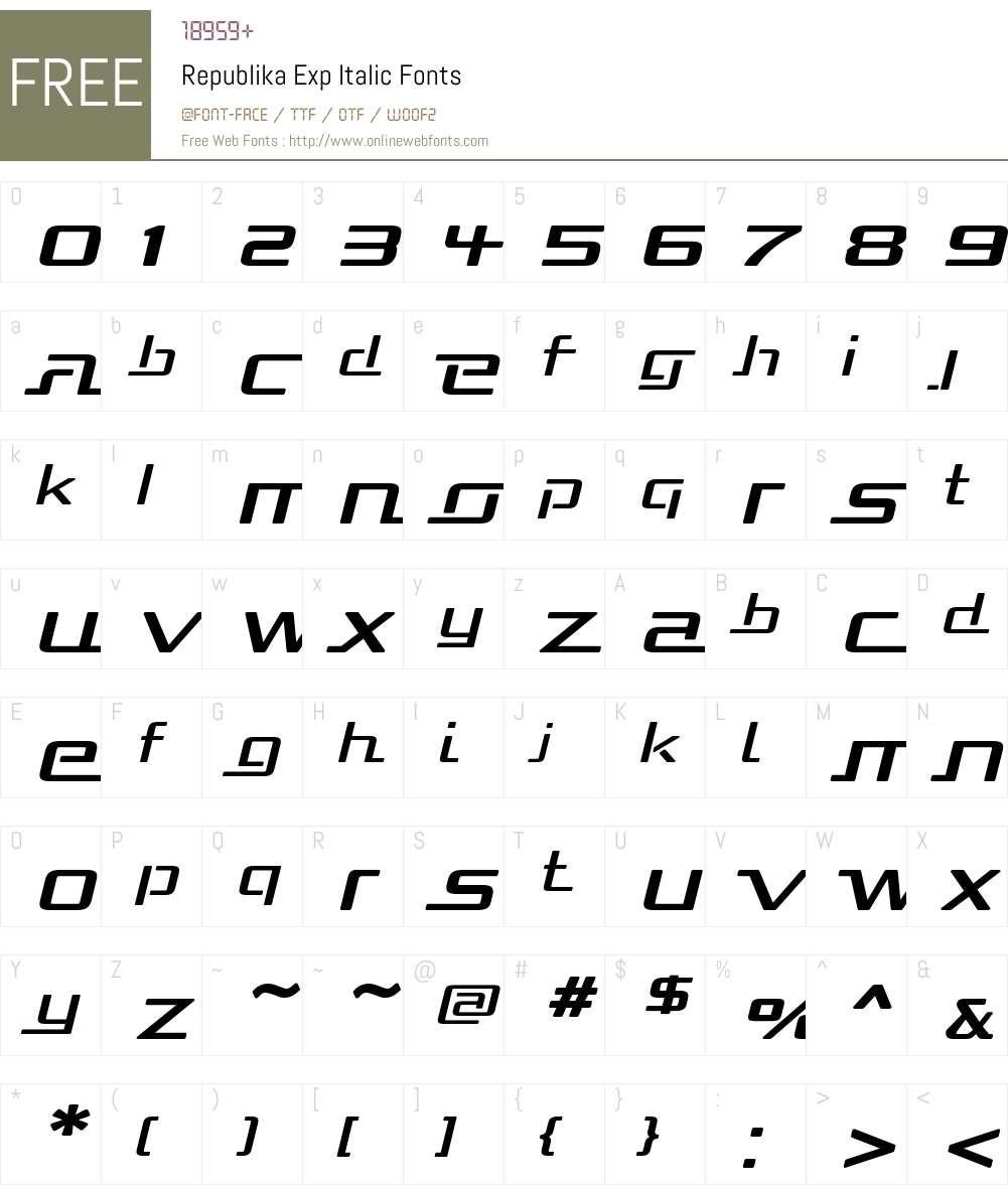 Republika Exp Font Screenshots