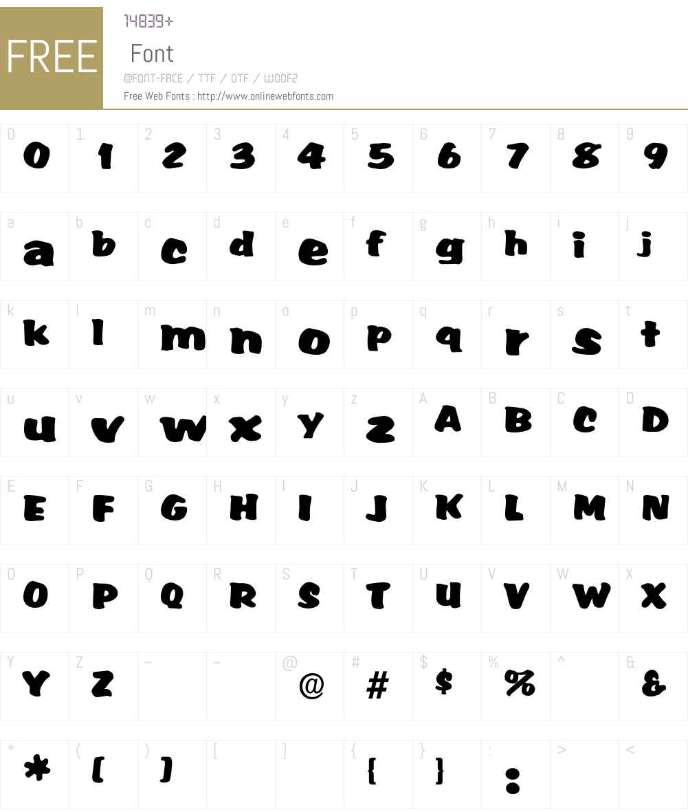 Accent Font Screenshots