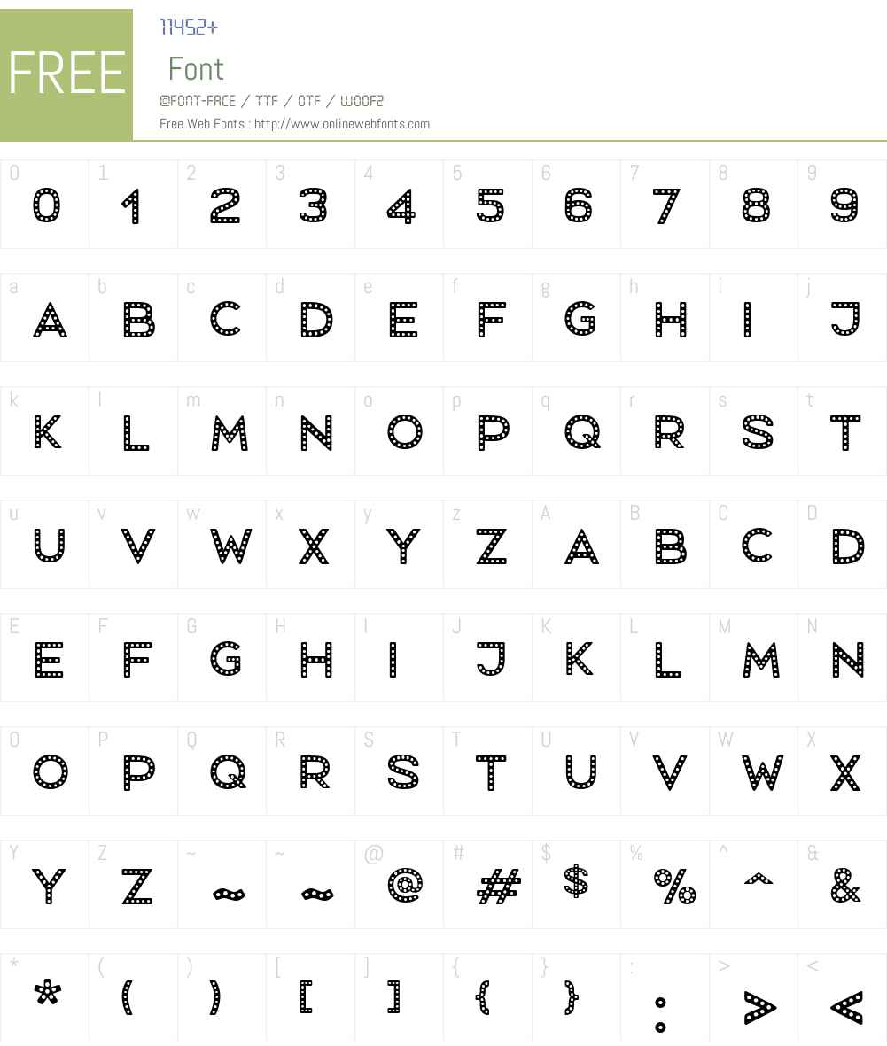 MrsOnion-Dotted Font Screenshots