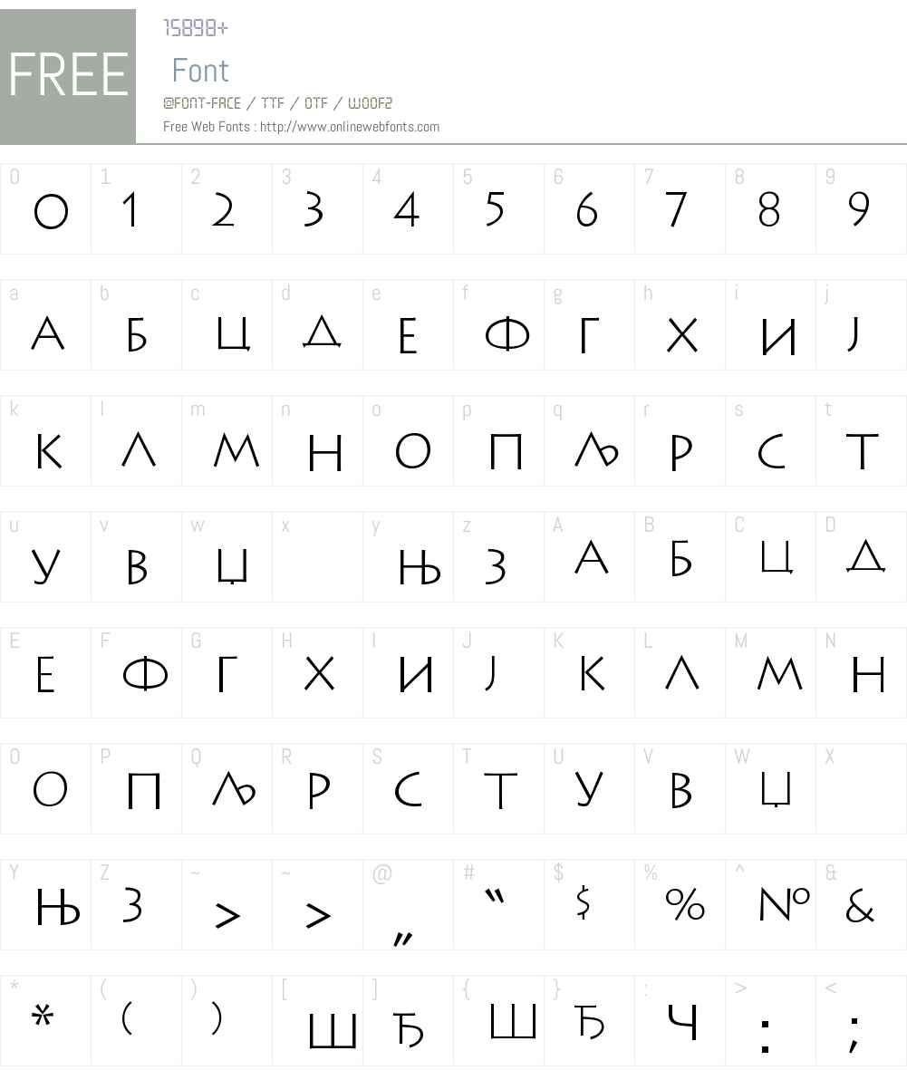 LithosCirZK Font Screenshots