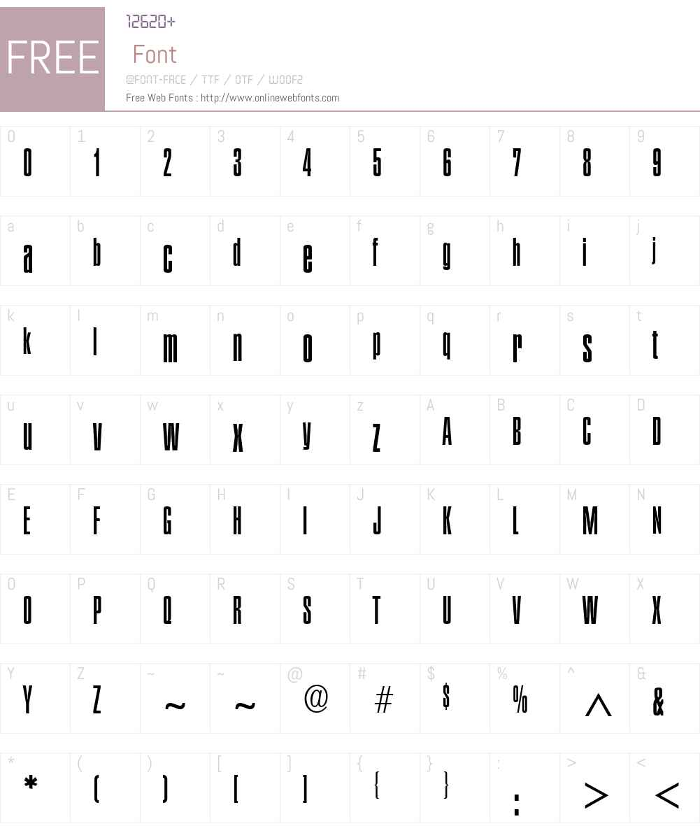Plakette Font Screenshots