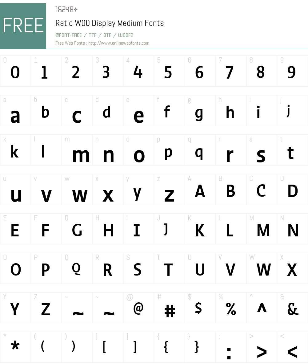 Ratio Display (p.s.type) Font Screenshots