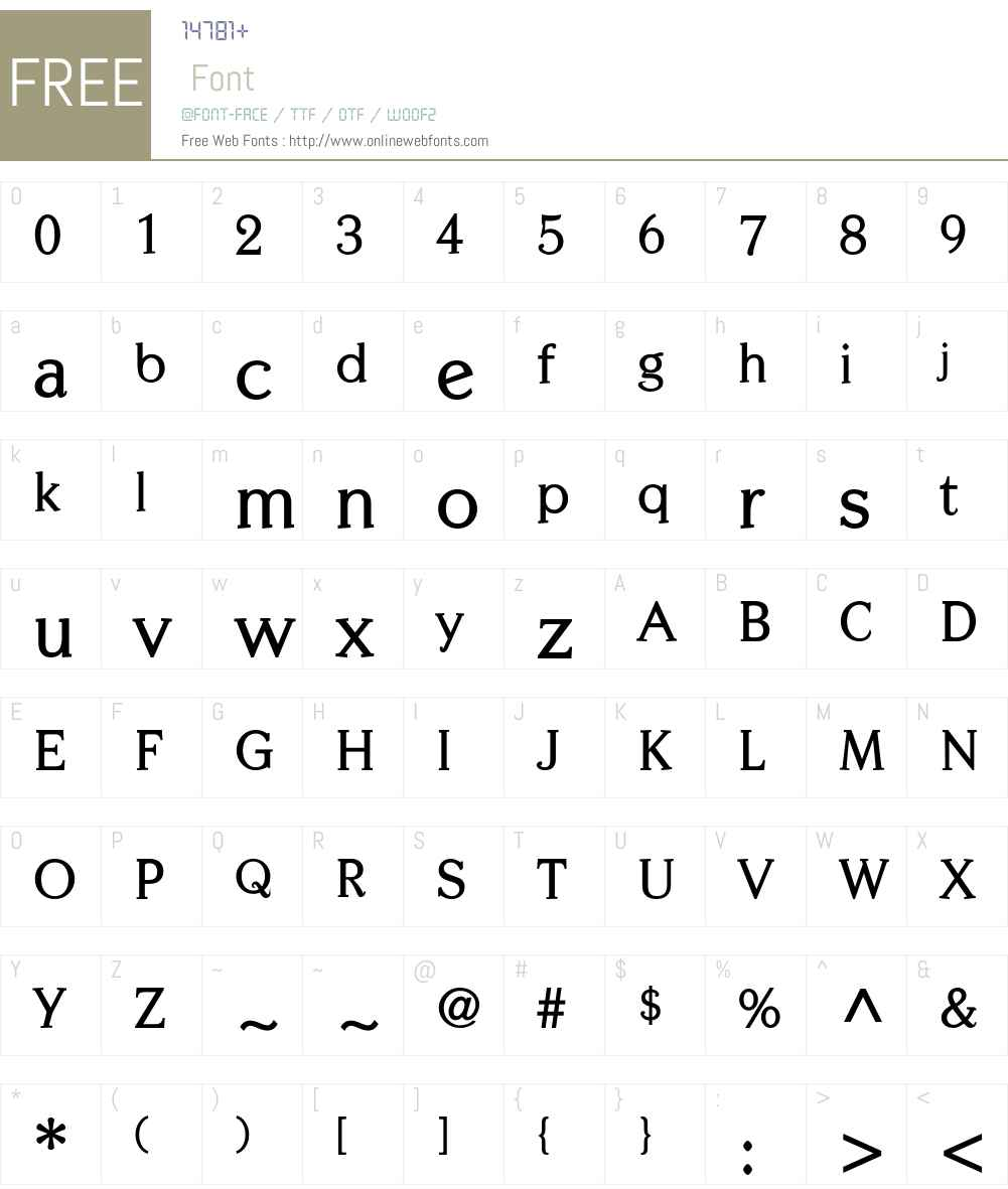 Centabel Font Screenshots