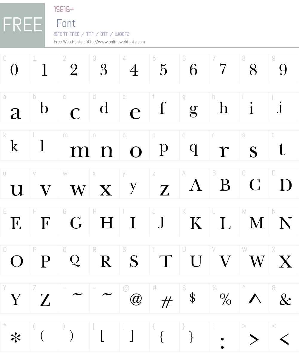 BaskervilleHandcutW01-Reg Font Screenshots