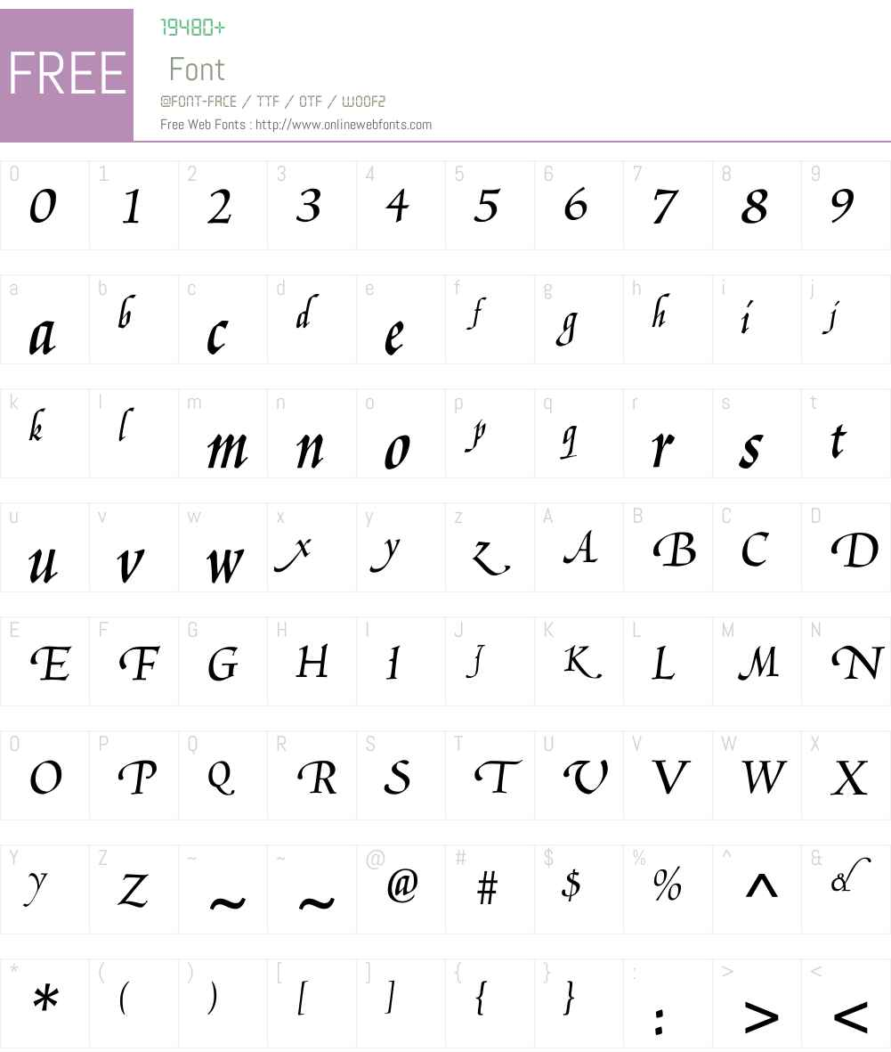 LudovicoW03-Smooth Font Screenshots