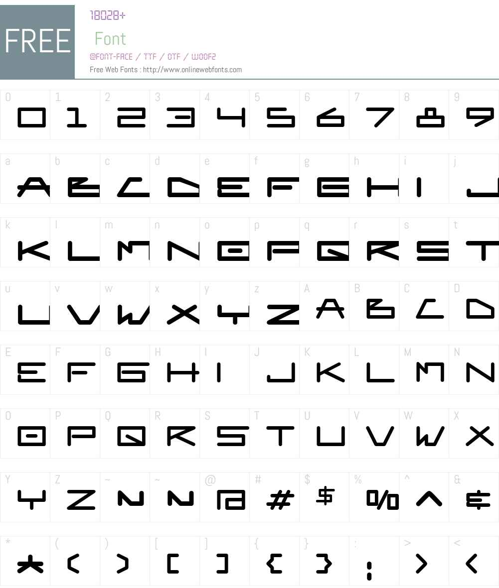 EuroMachinaBTW01-Regular Font Screenshots