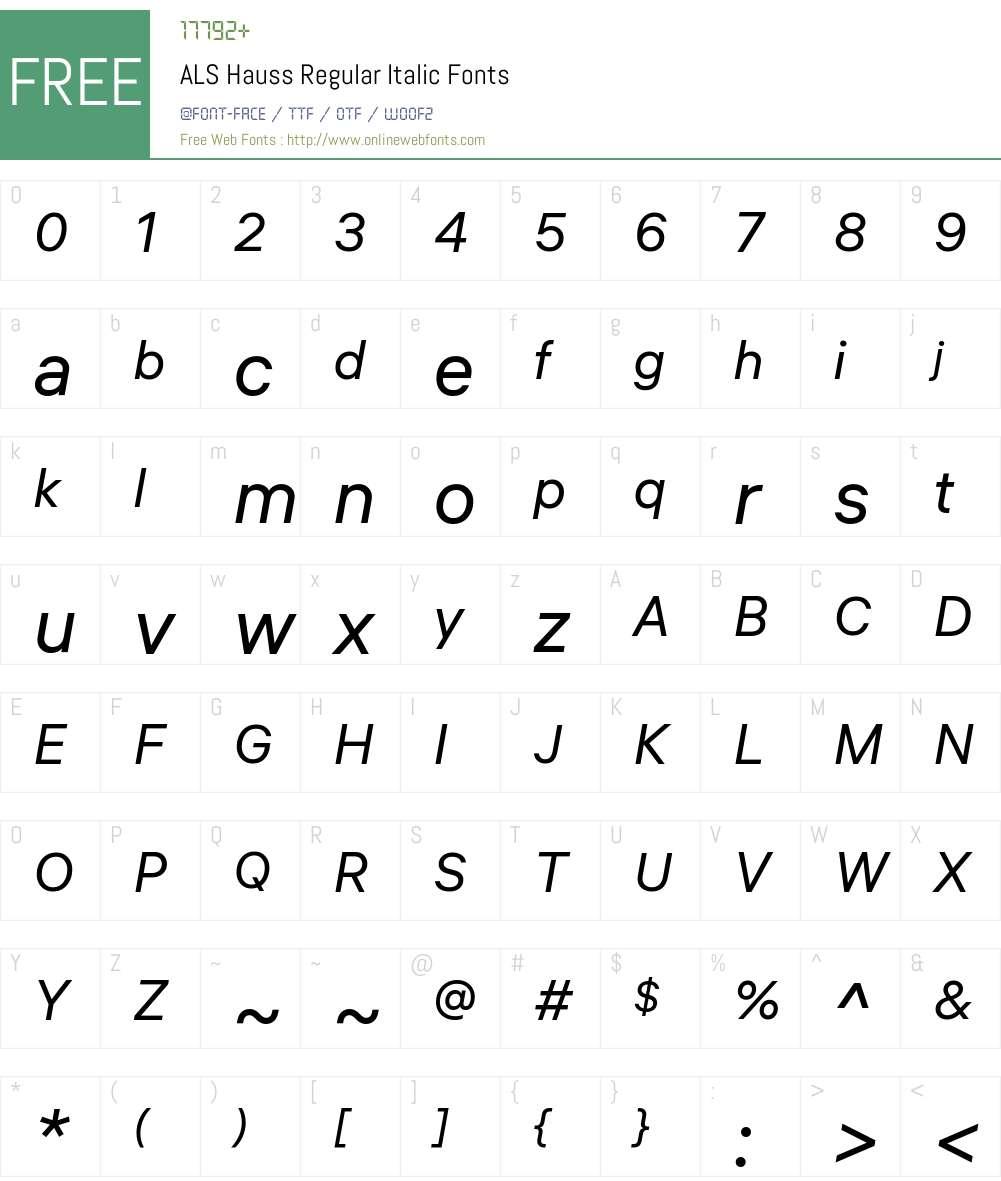ALS Hauss Font Screenshots