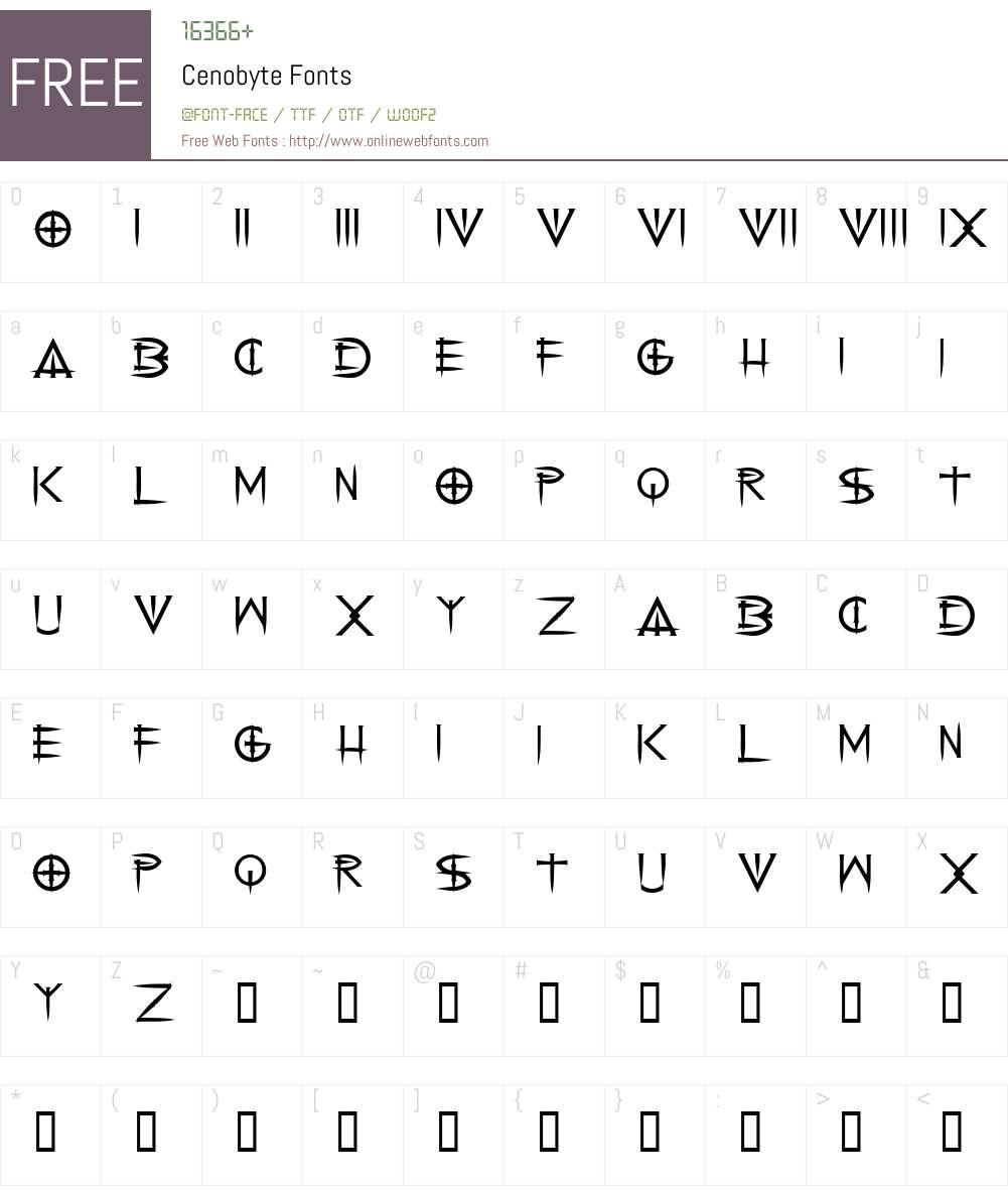 Cenobyte Font Screenshots