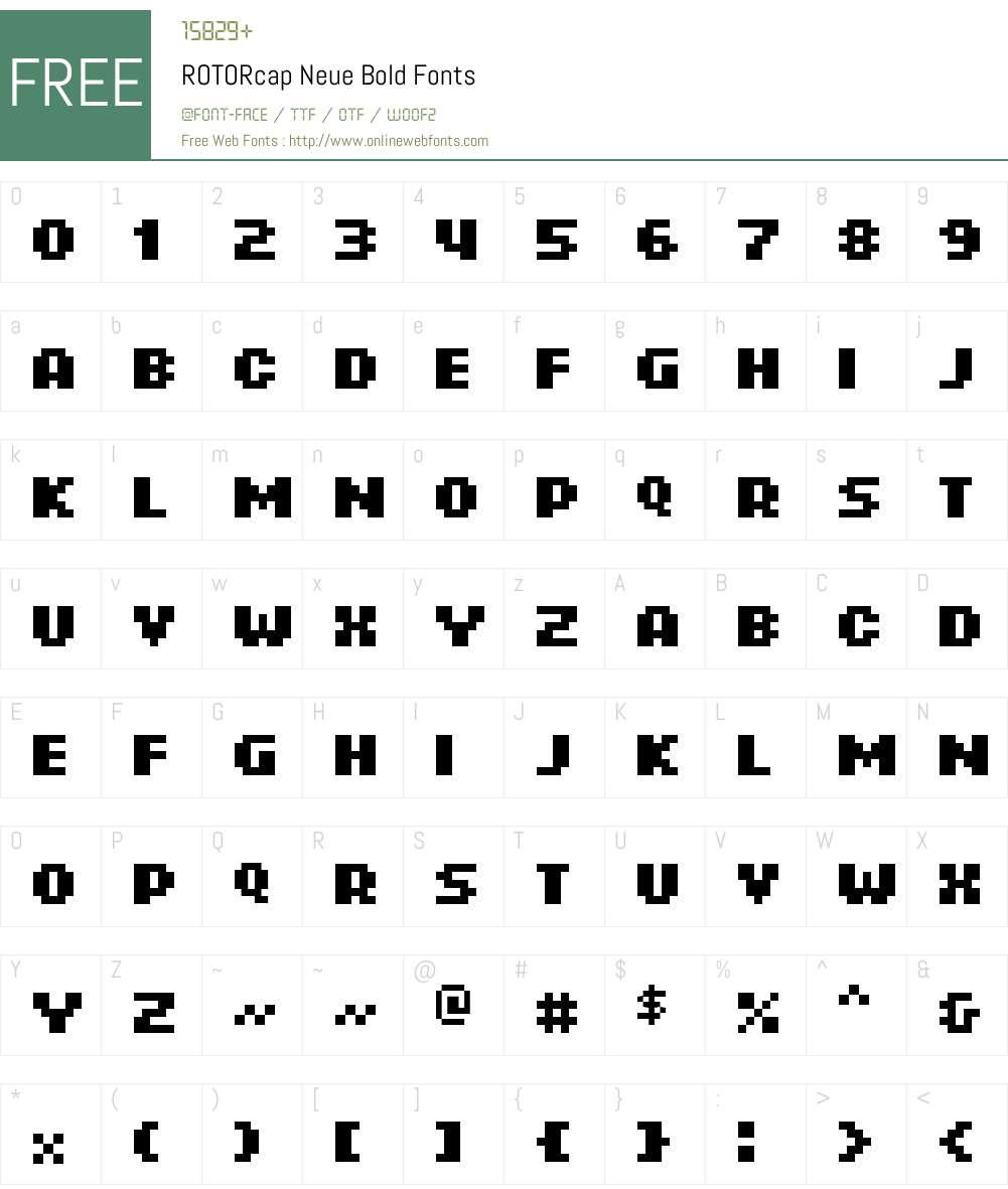 ROTORcap Neue Font Screenshots