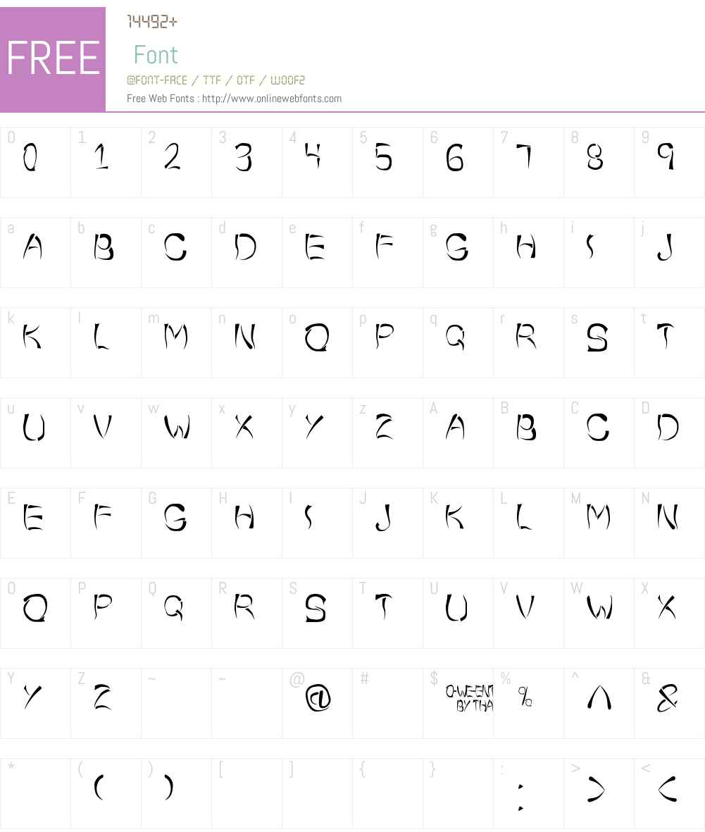 o-wee-ental Font Screenshots
