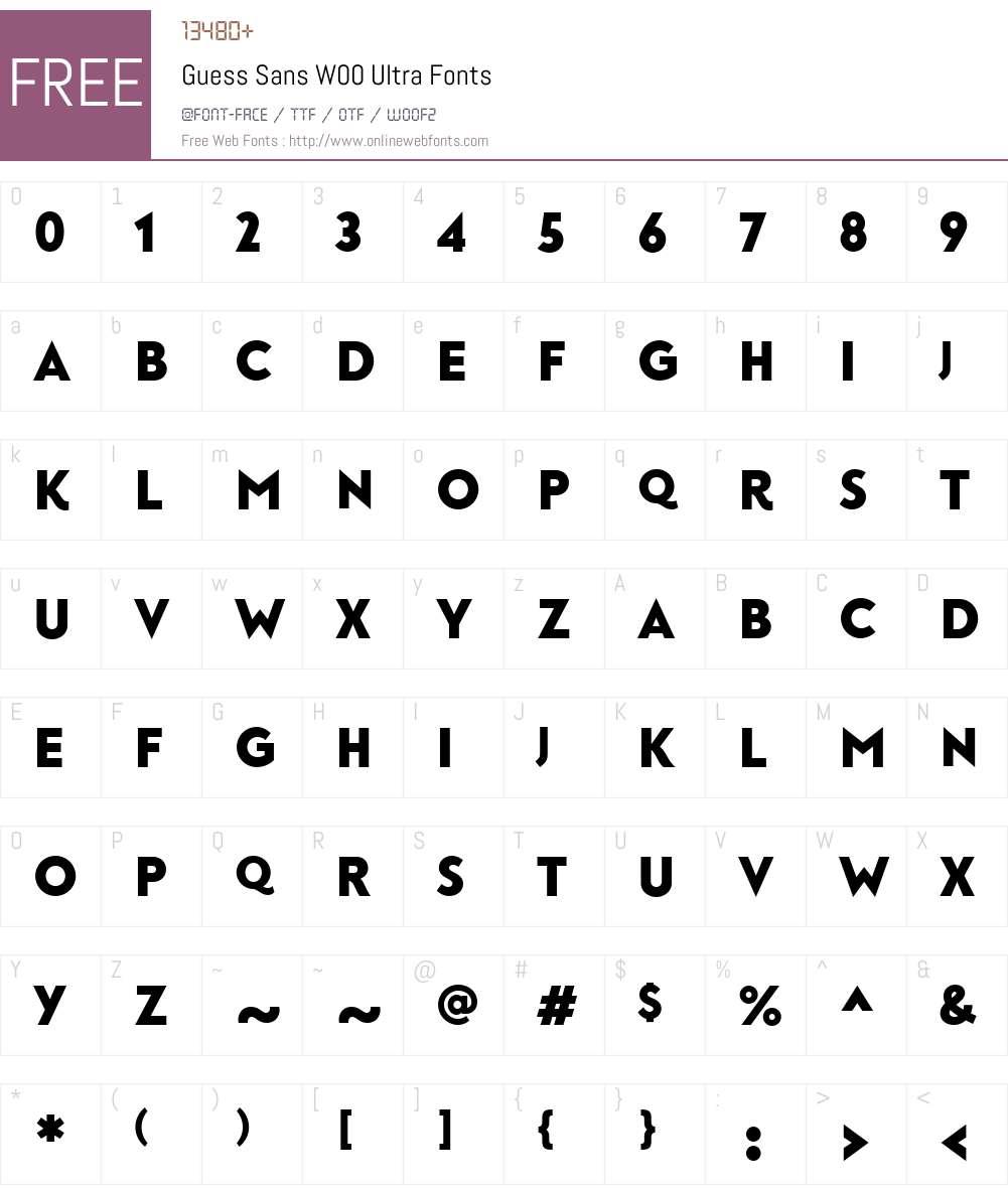 GuessSansW00-Ultra Font Screenshots