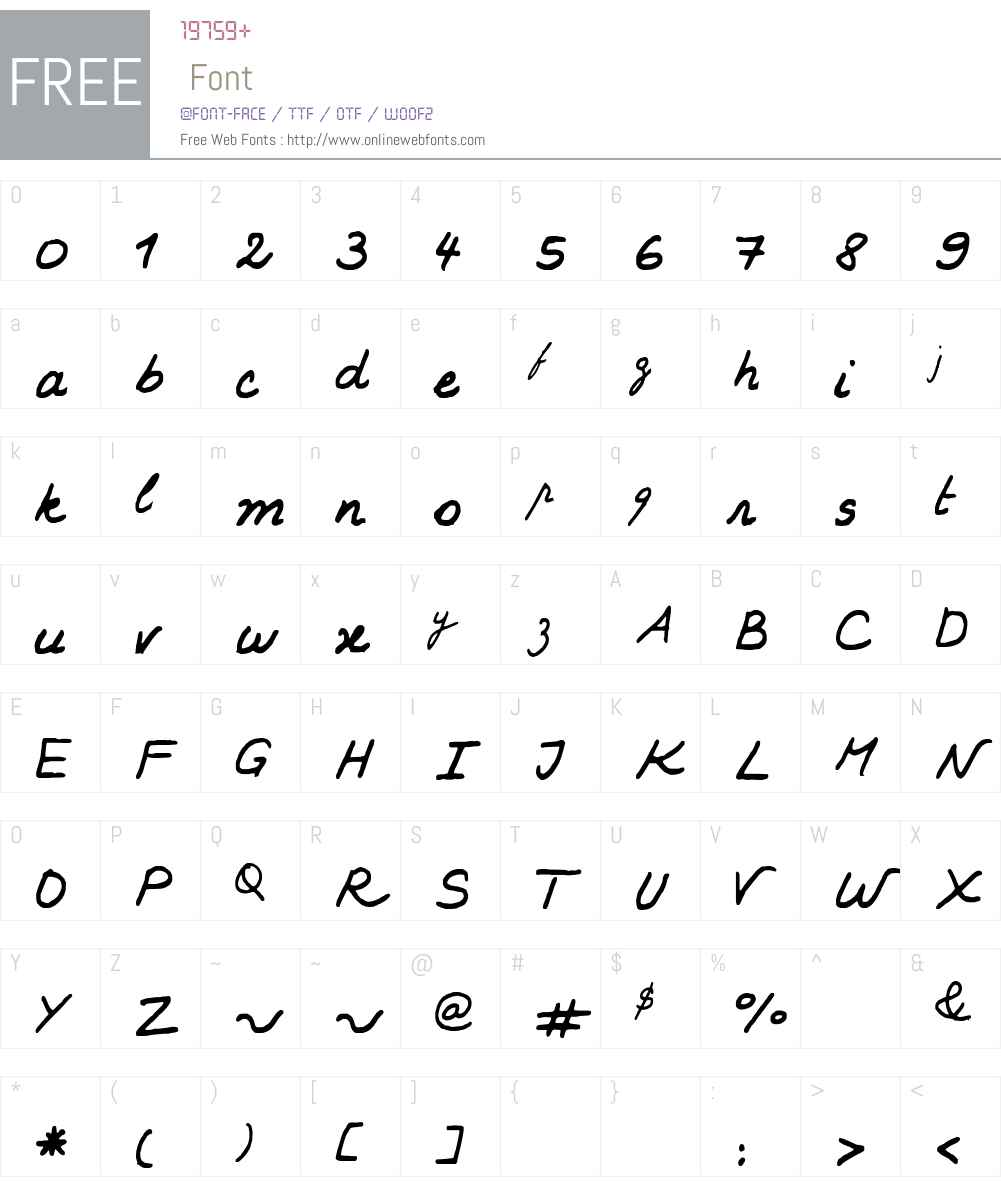KARINE Font Screenshots