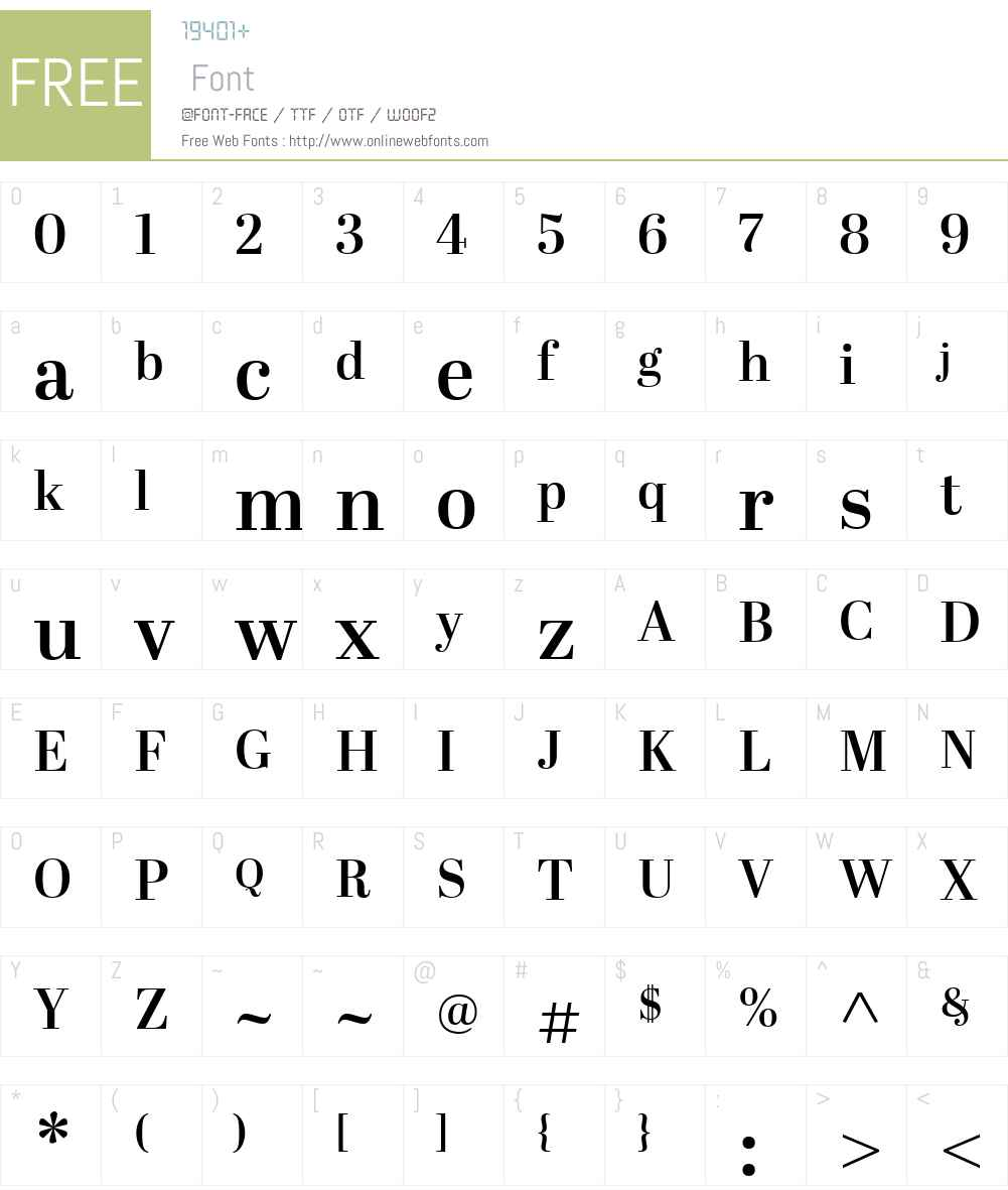 AbrilW01-DisplaySemiBold Font Screenshots