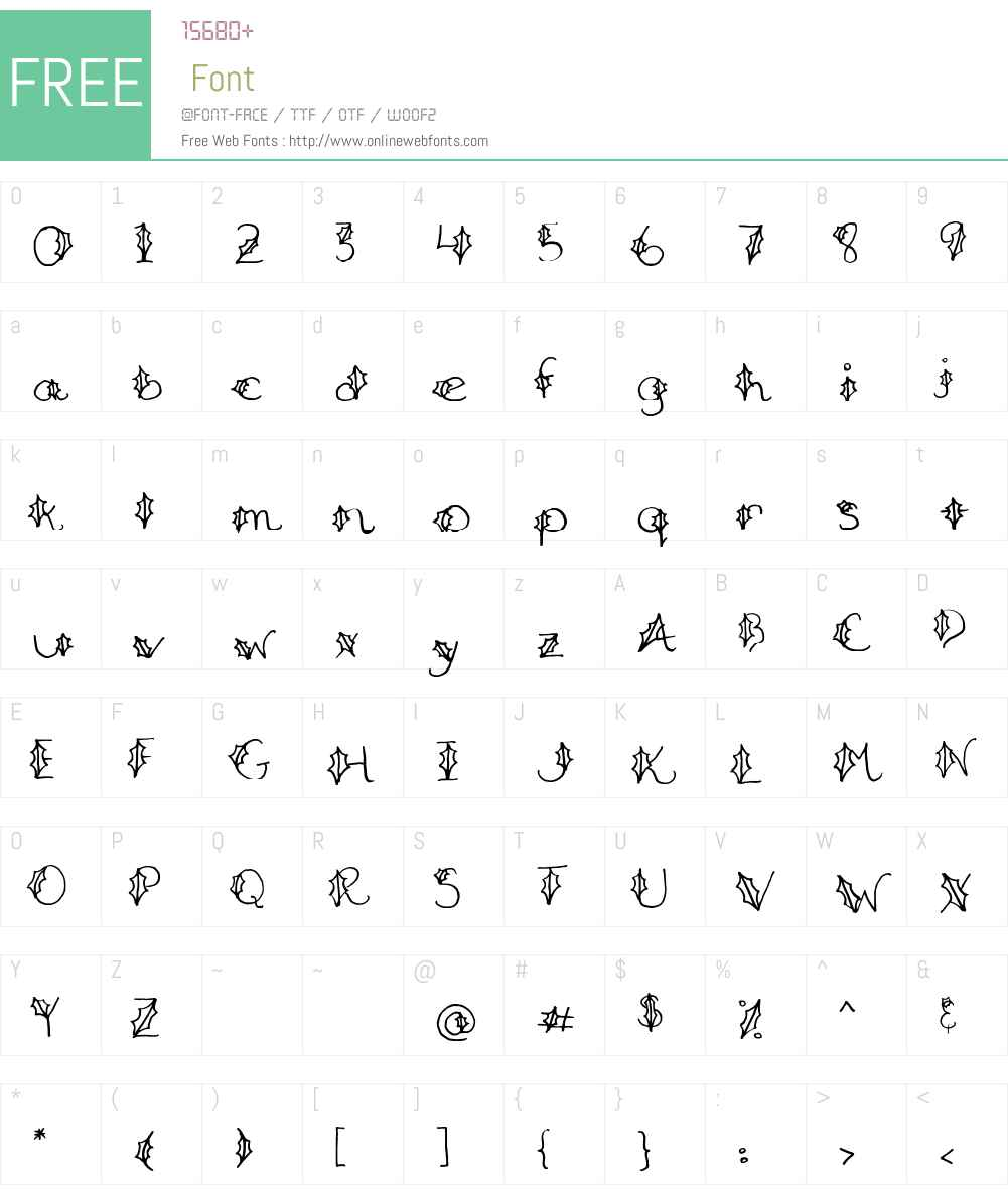 Holly Font Screenshots