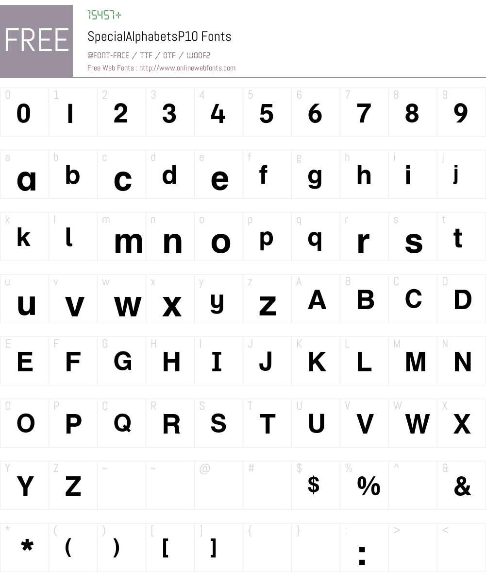 SpecialAlphabets Font Screenshots
