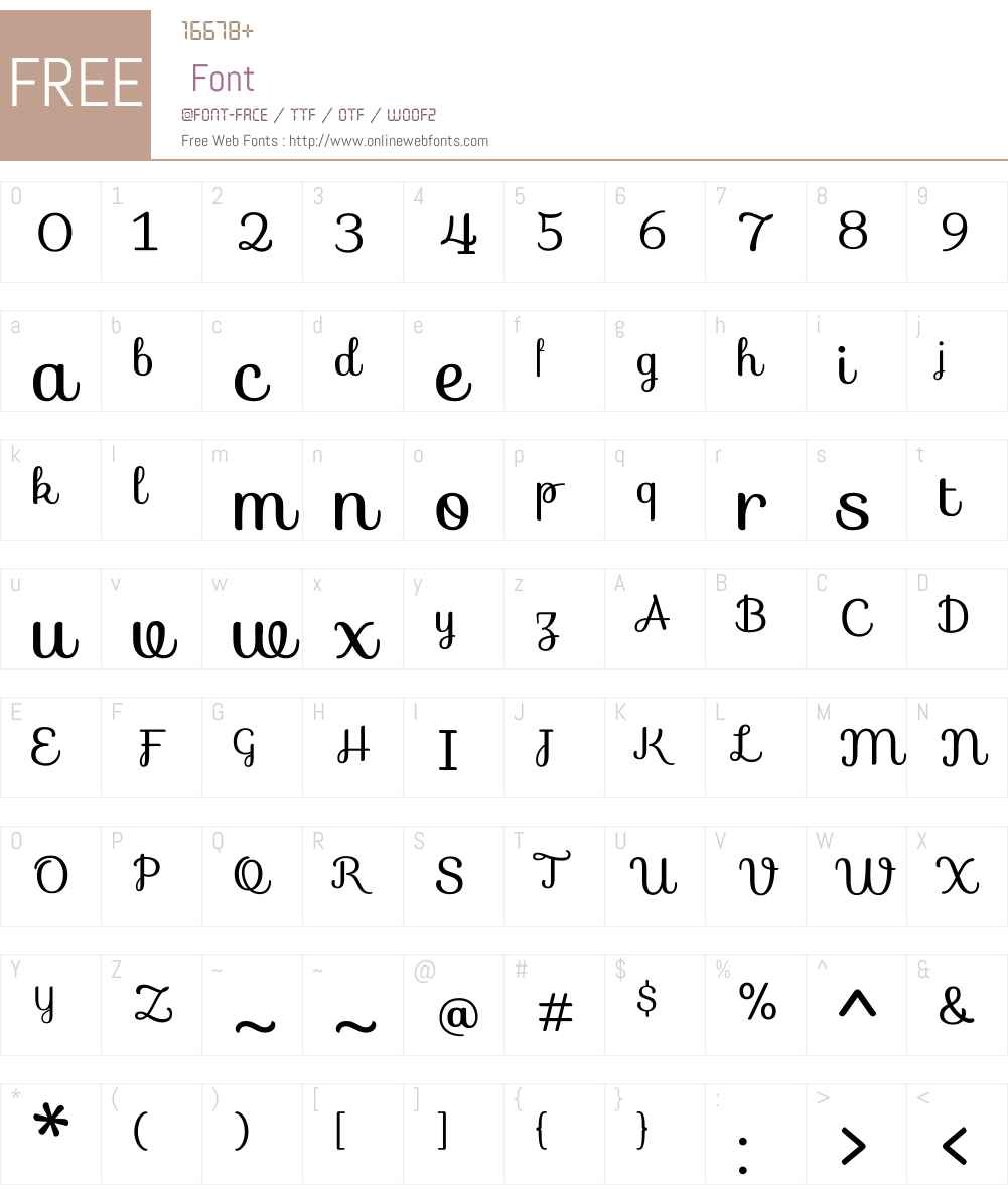 Sofia Font Screenshots
