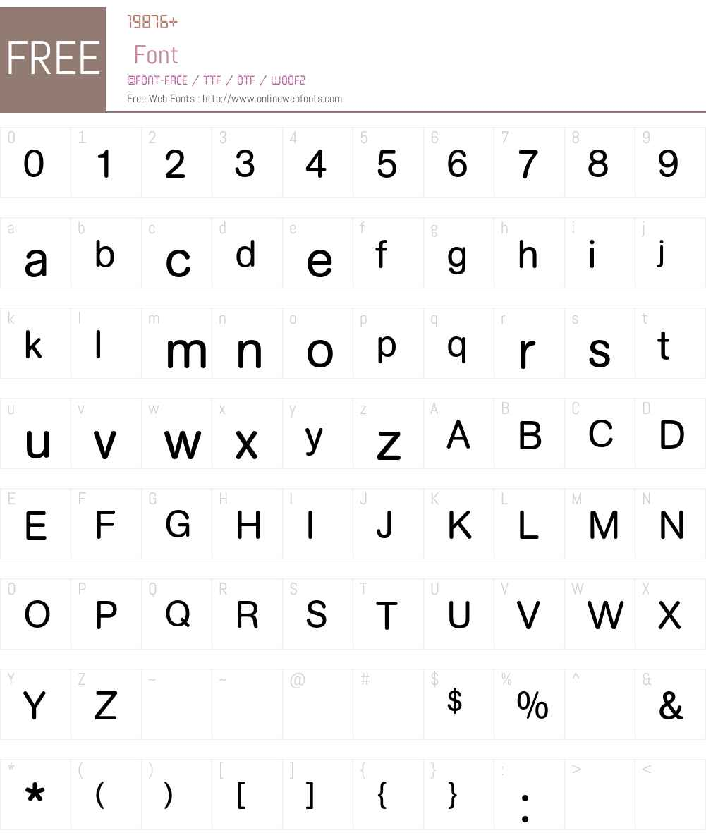 AG Book Rounded Font Screenshots