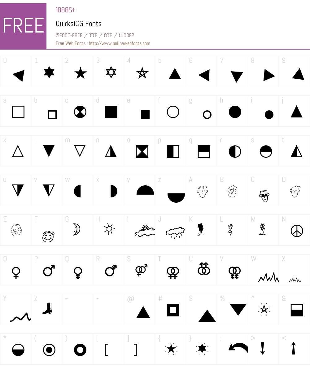 QuirksICG Font Screenshots