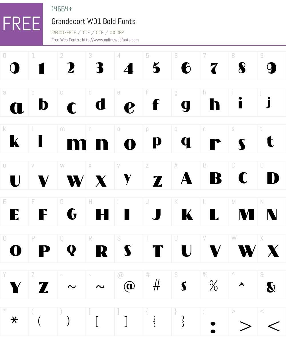 GrandecortW01-Bold Font Screenshots