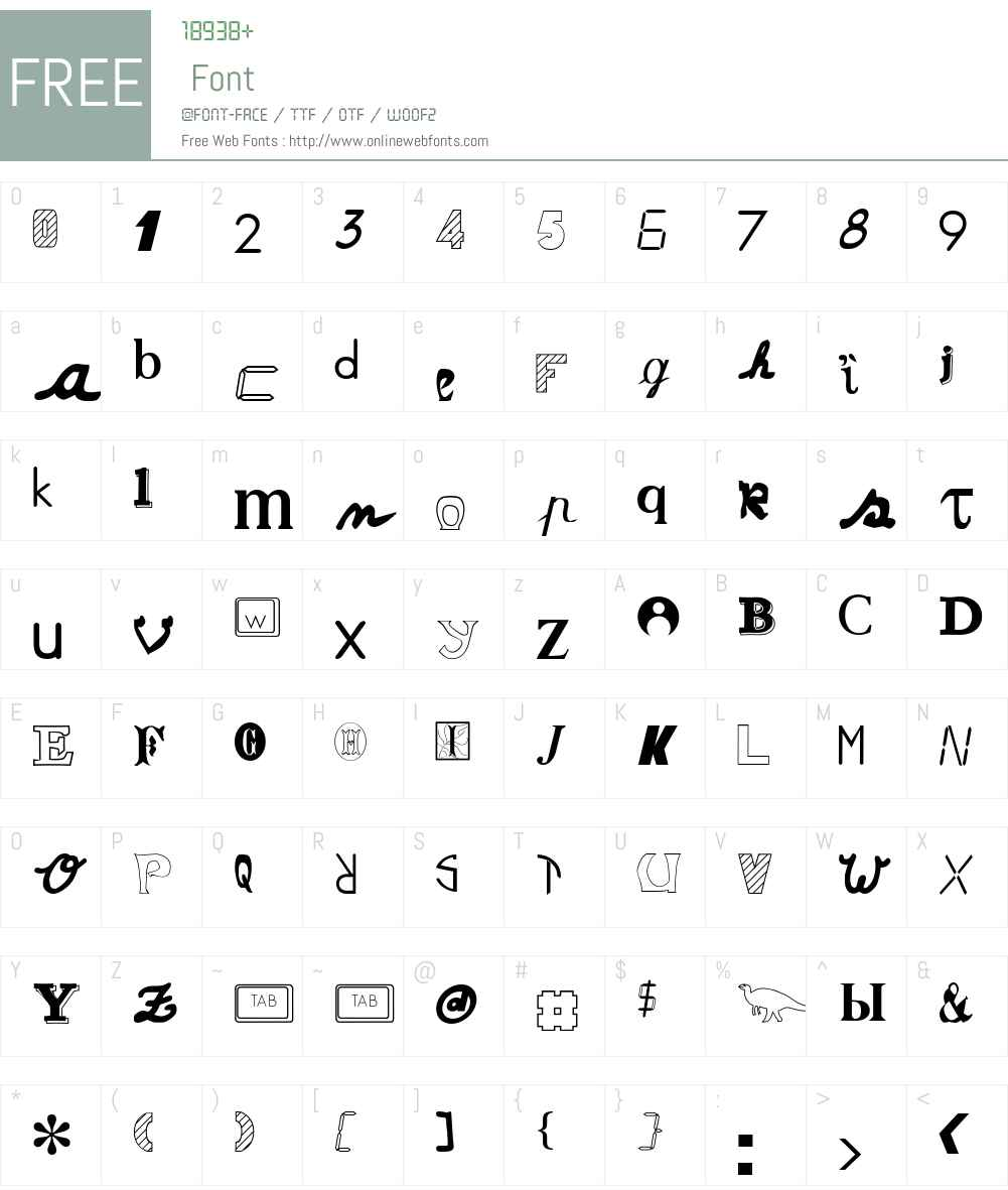 Anonymous Font Screenshots