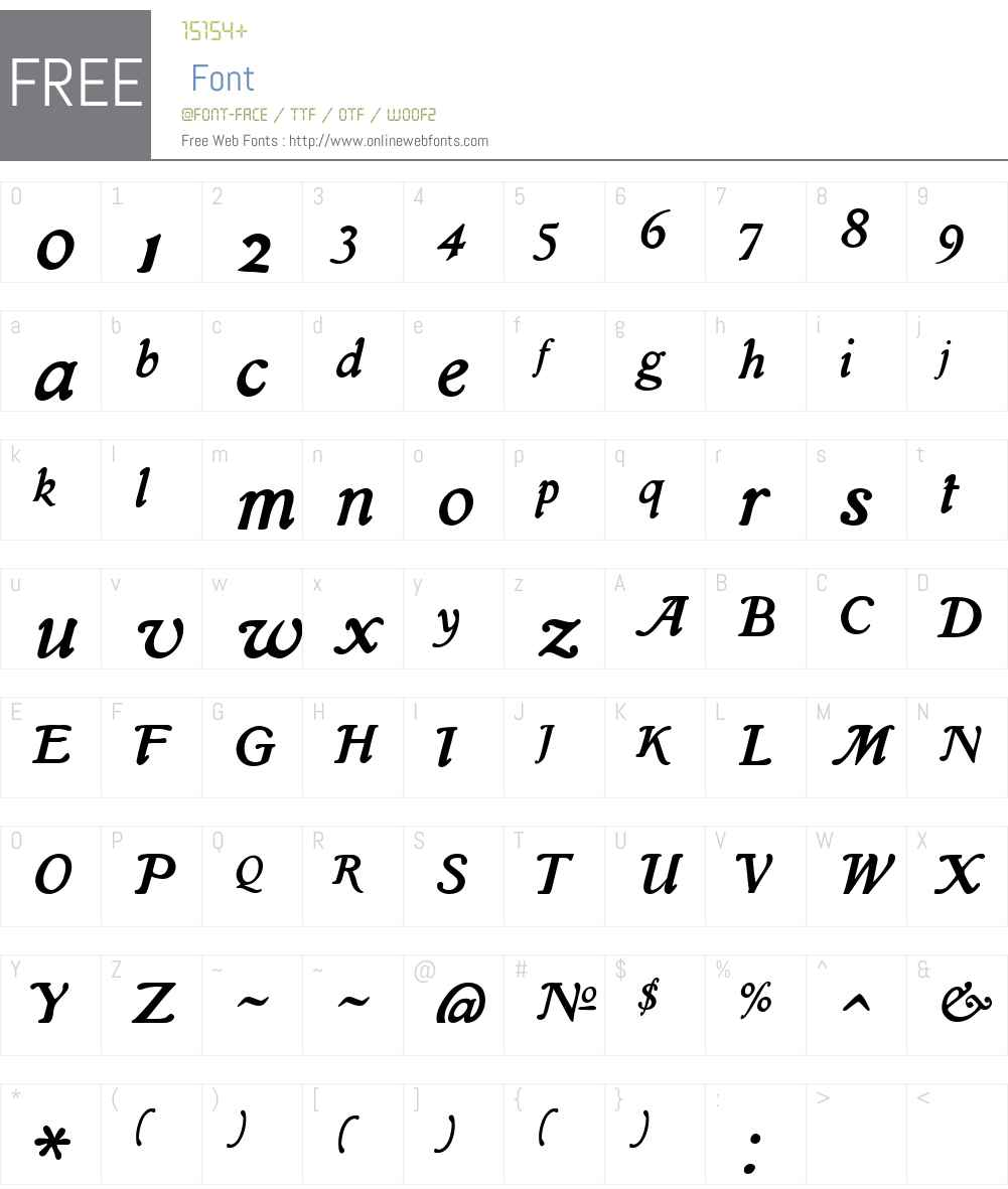 IslaW00-Regular Font Screenshots