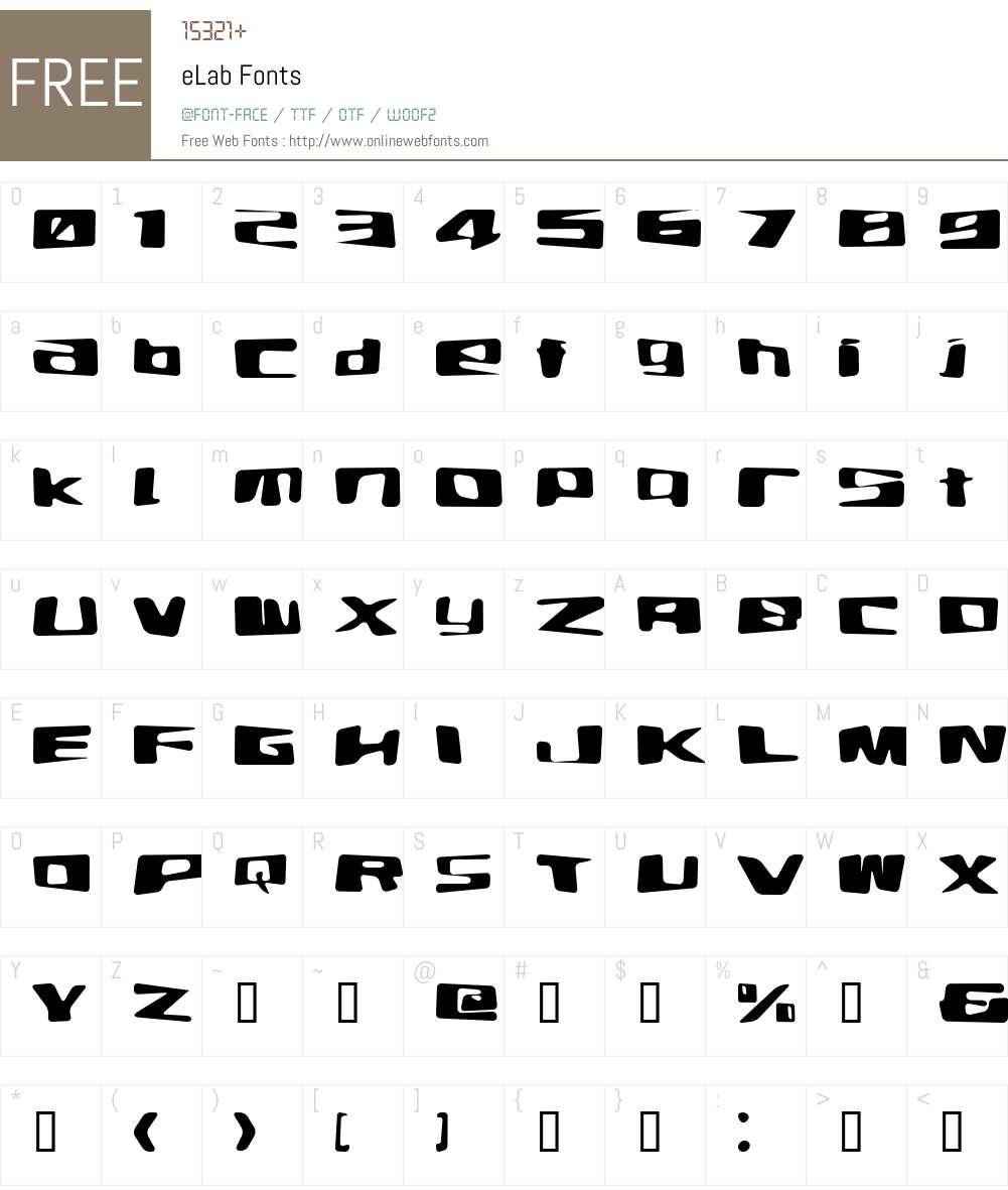 eLab Font Screenshots