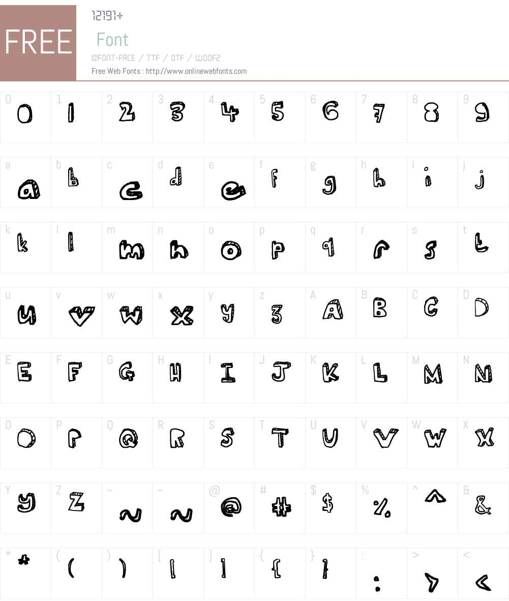 Ser's font Font Screenshots