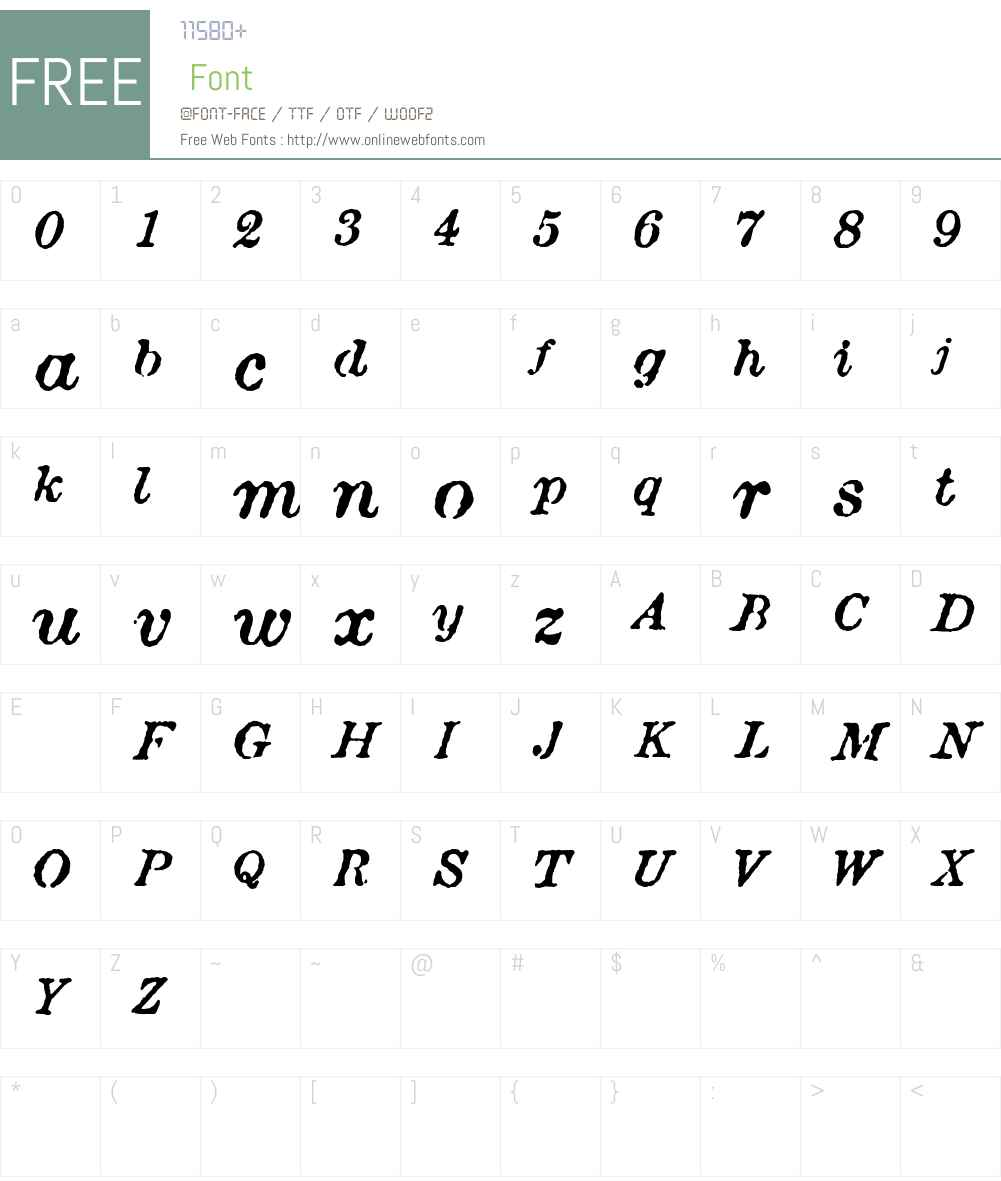 Attic Antique Font Screenshots