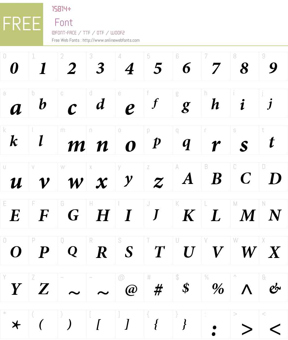 MinionW01-BdItCap Font Screenshots