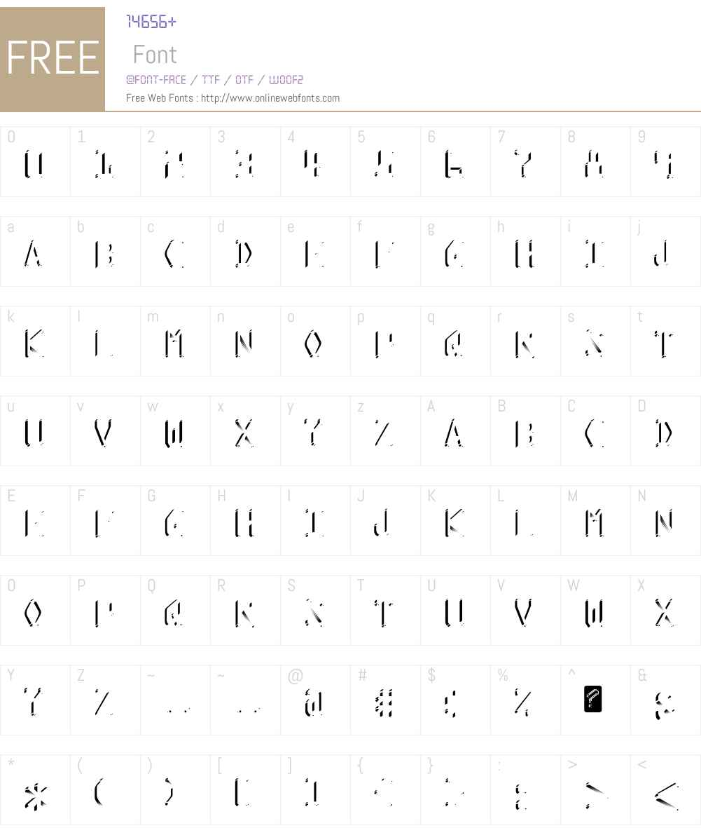 Kredit Font Screenshots