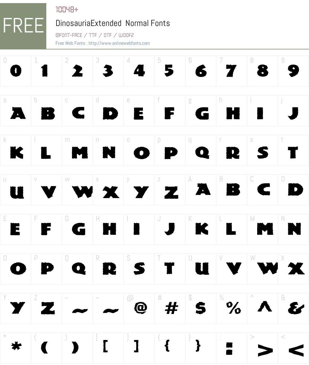 DinosauriaExtended Font Screenshots