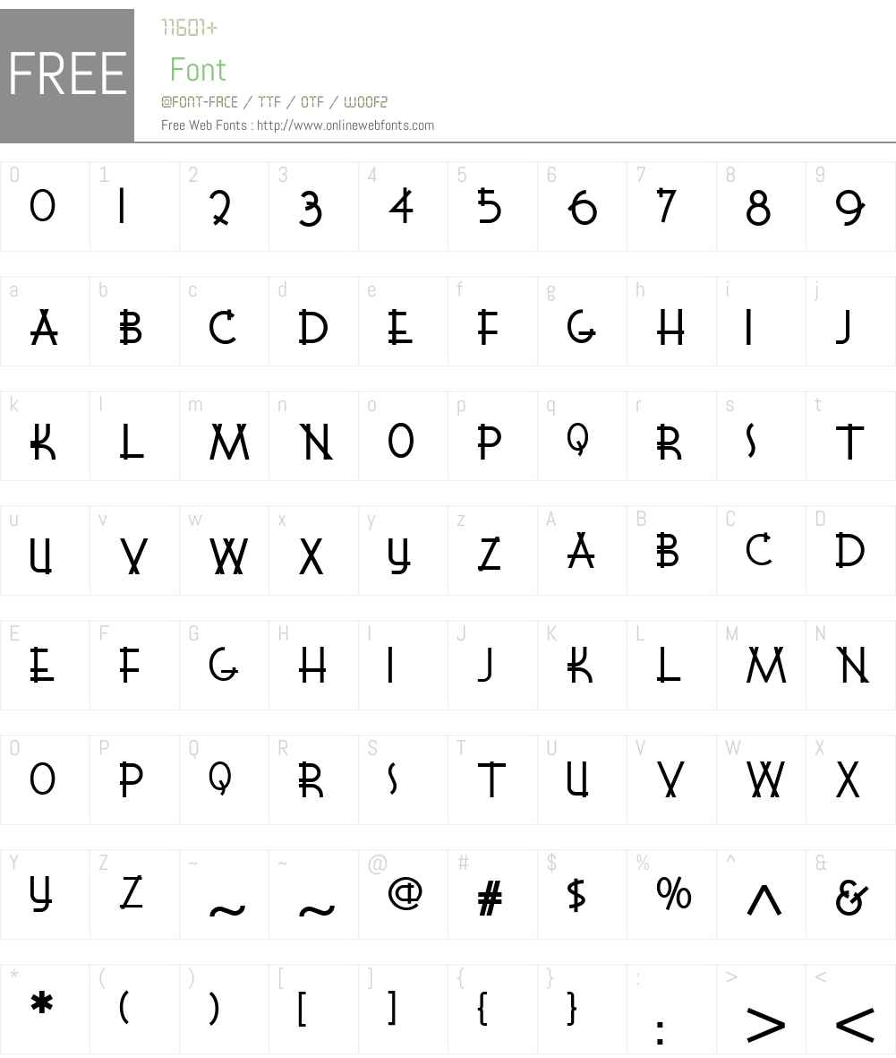 WigwamNF Font Screenshots