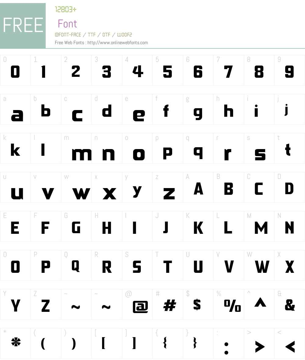Gageda Font Screenshots