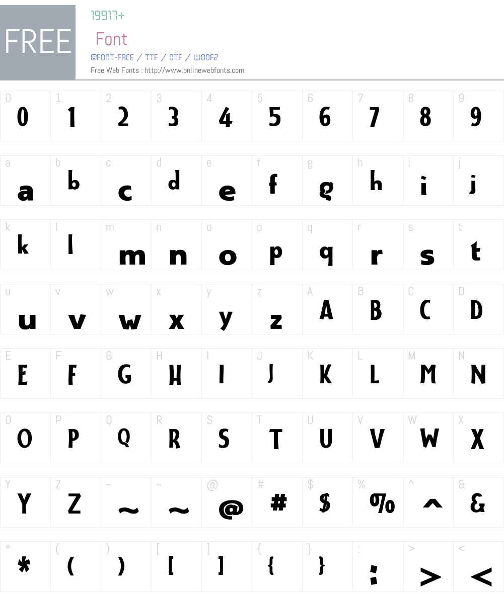 AerleW01-Regular Font Screenshots