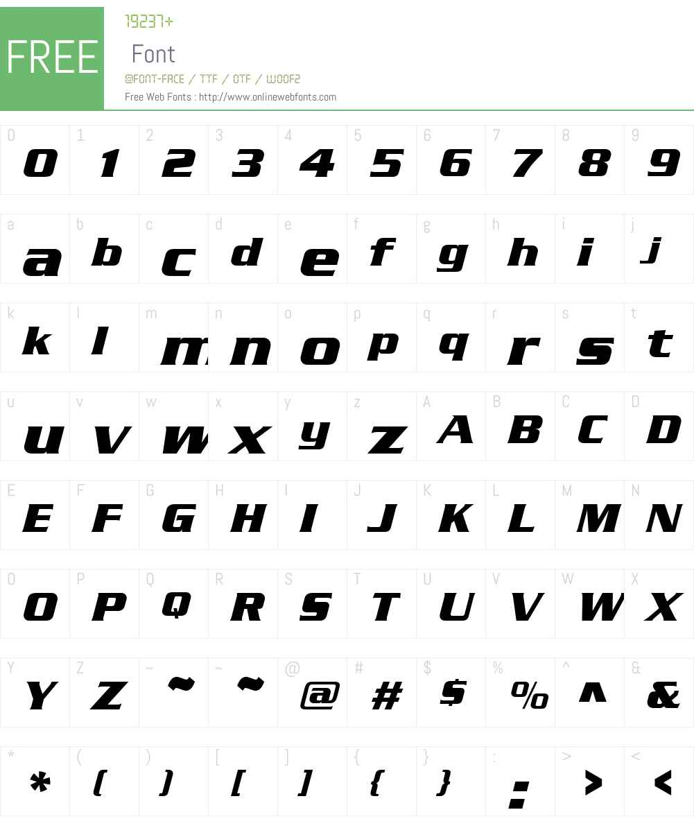 SerpentineDBol Font Screenshots