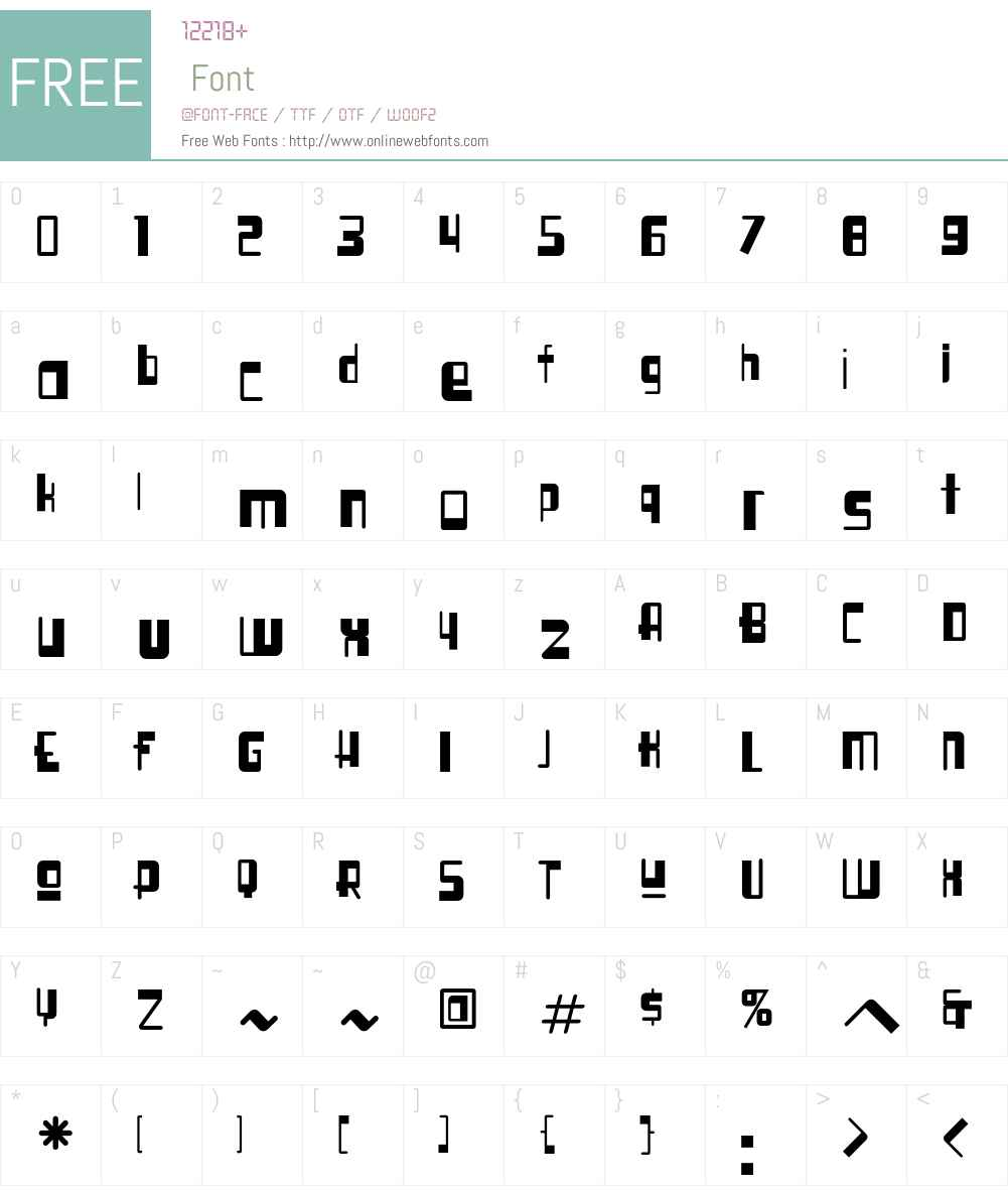 SyllogonICG Font Screenshots