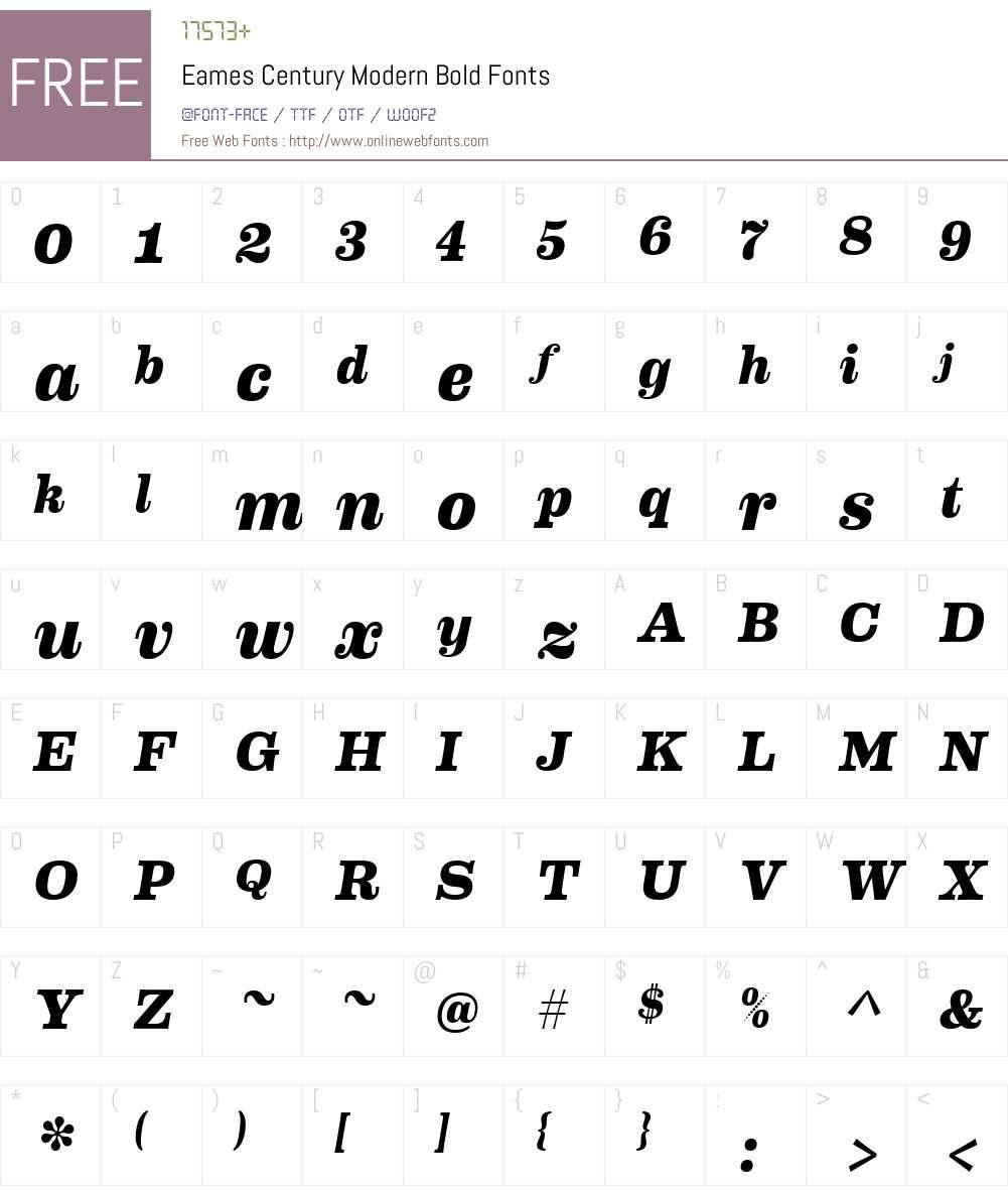 Eames Century Modern Bold Font Screenshots