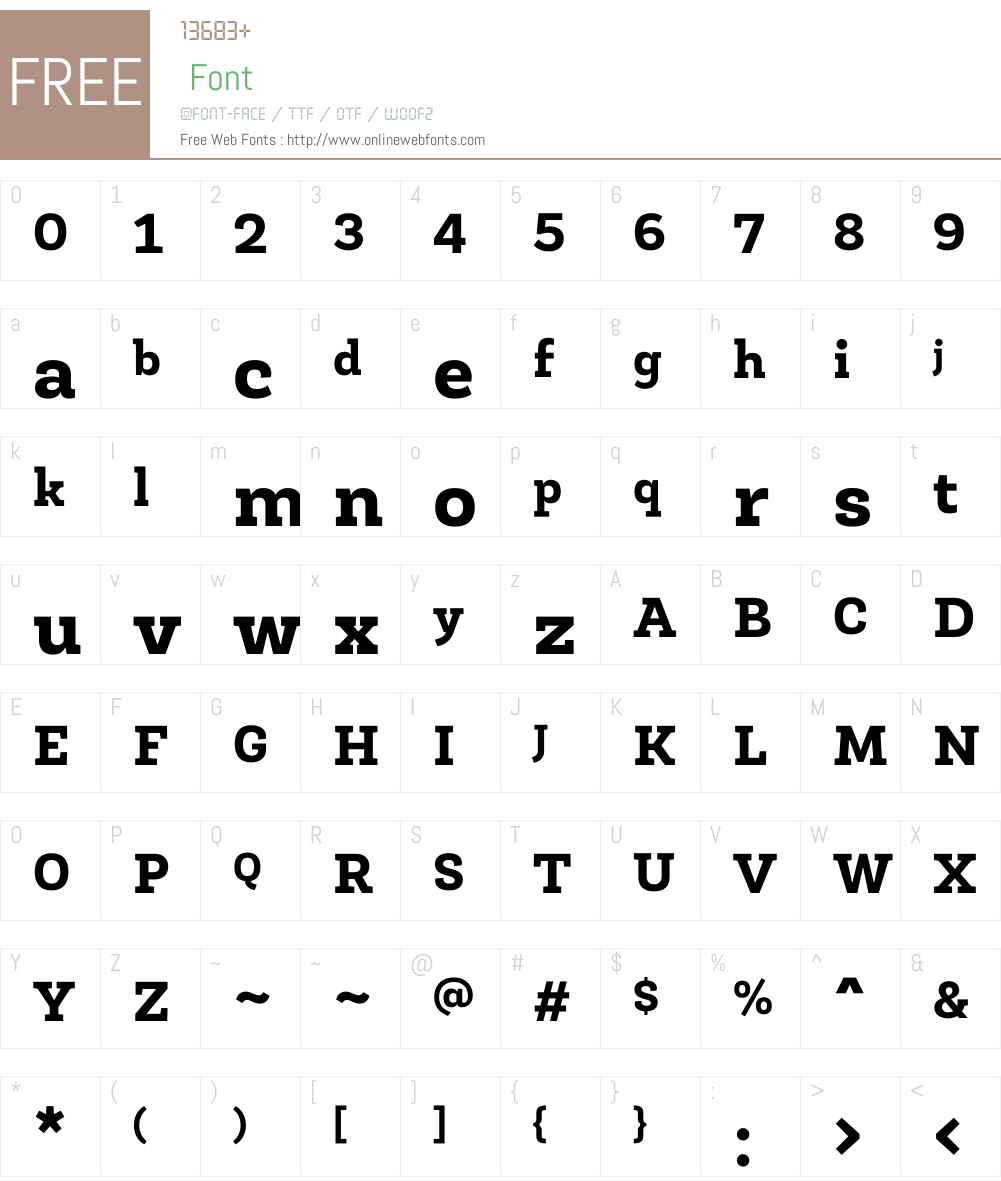 Roble Font Screenshots