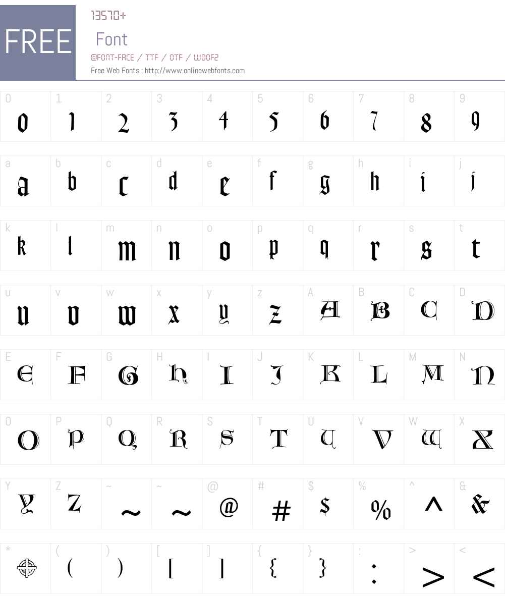 Goudy Text MT Font Screenshots