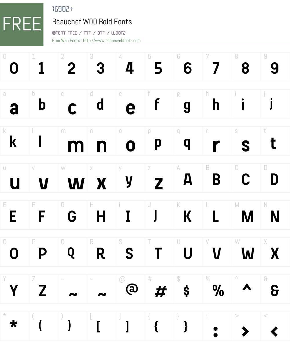 BeauchefW00-Bold Font Screenshots