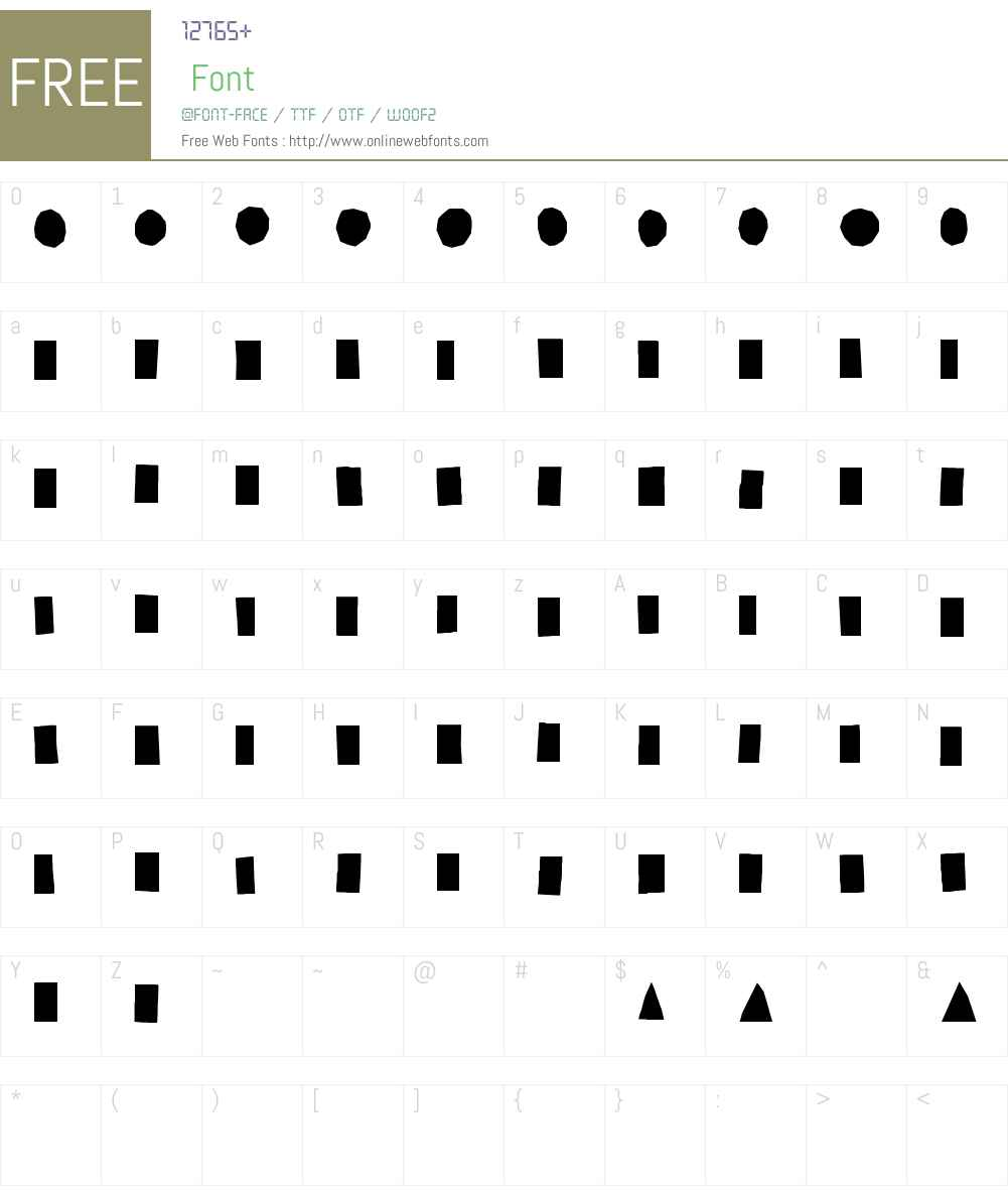 PaperCutsOrnamentsW95-Rg Font Screenshots