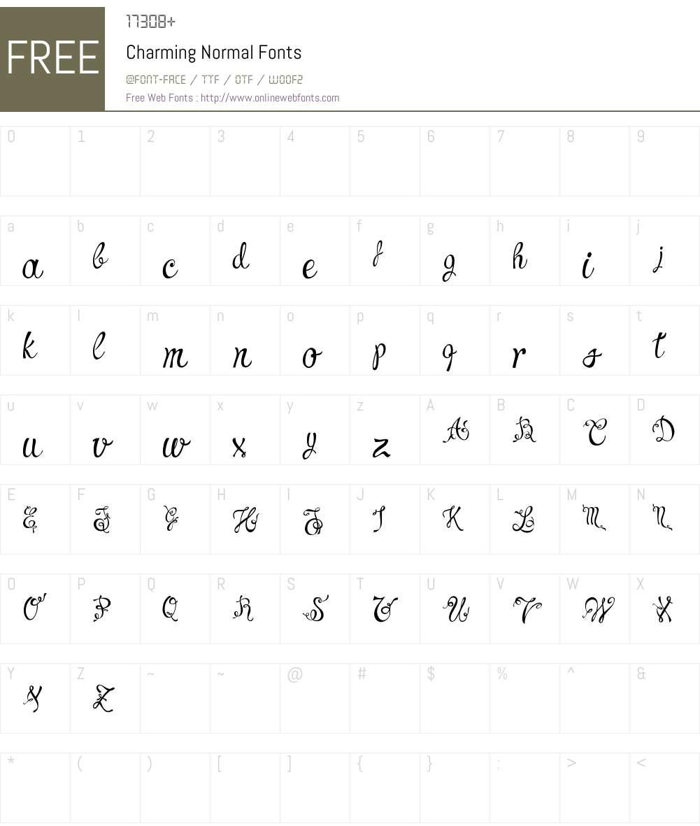 Charming Normal Font Screenshots