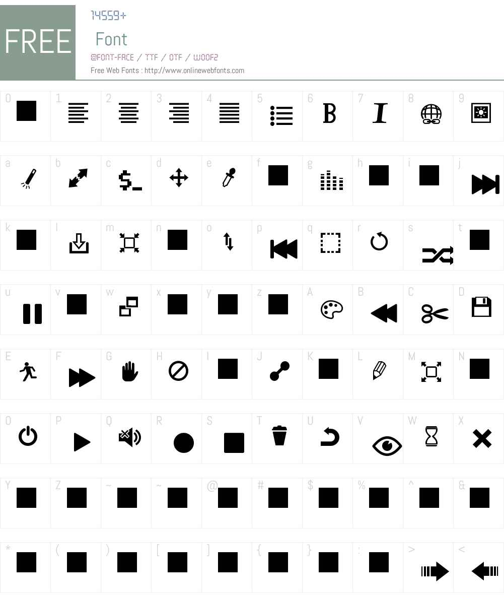 Heydings Controls Font Screenshots