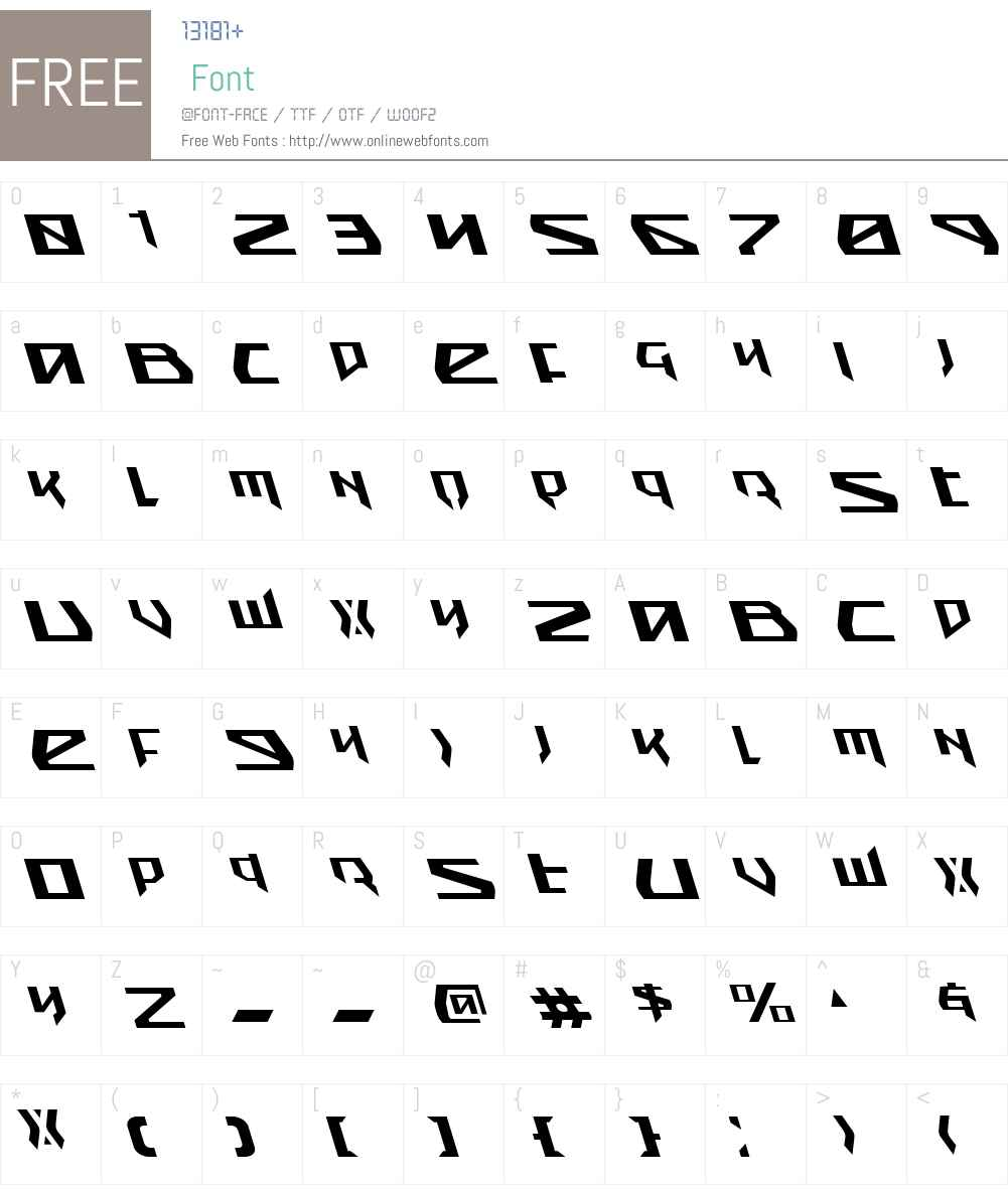 Snubfighter Leftalic Font Screenshots