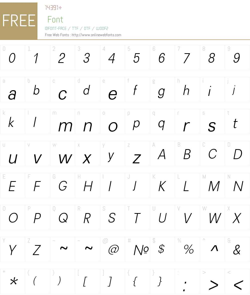 Recta Font Screenshots
